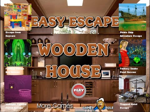 Games2rule easy escape wooden house walkthrough 2017 for Minimalist house escape 2 walkthrough